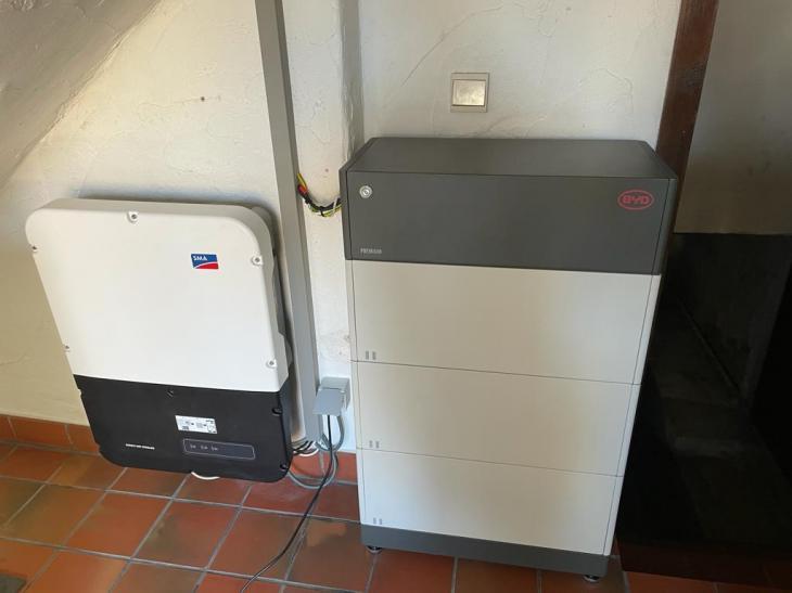 SMA + BYD batterij in Kortenberg