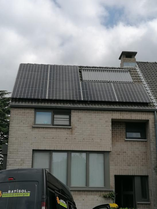 zonnepanelen op pannen dak - Wilsele
