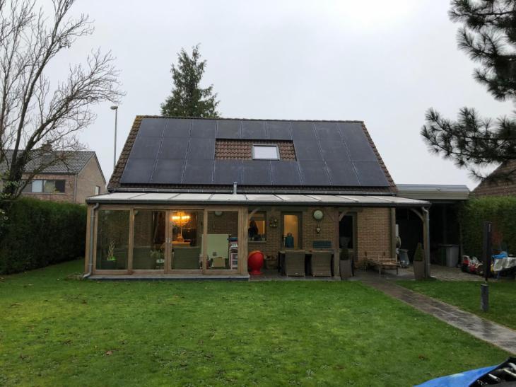 zonnepanelen op pannen dak in Pellenberg