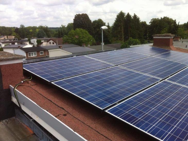 Zonnepanelen op roofing Heverlee