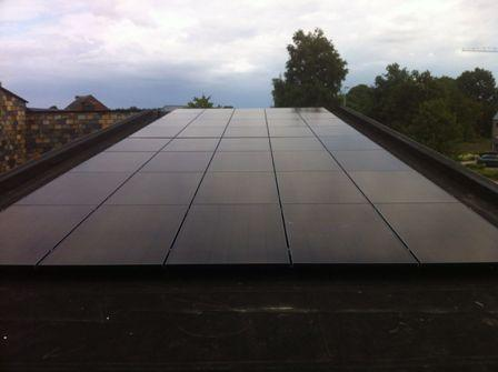 Zonnepanelen op roofing in Westerlo