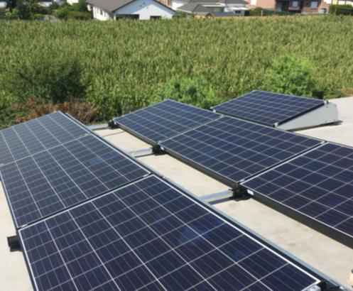Zonnepanelen op roofing Erps-Kwerps