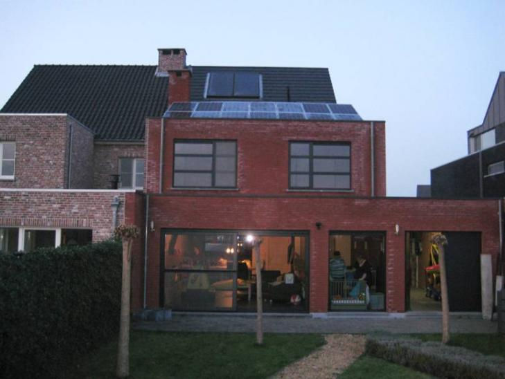 Zonnepanelen op plat dak Nijlen