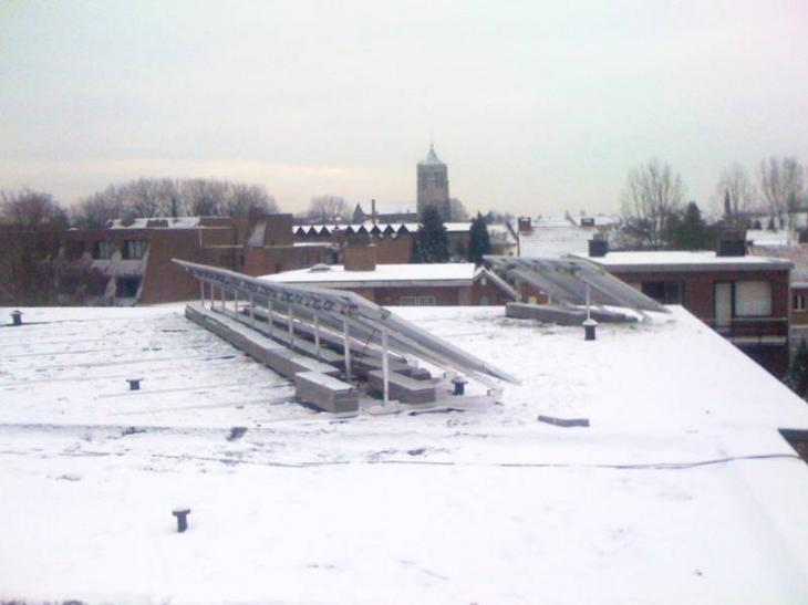 Zonnepanelen op plat dak Mol