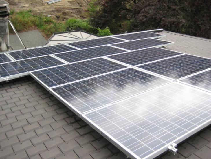 Zonnepanelen op leien dak Herentals