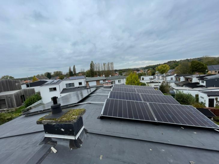 Zonnepanelen op roofing dak Heverlee