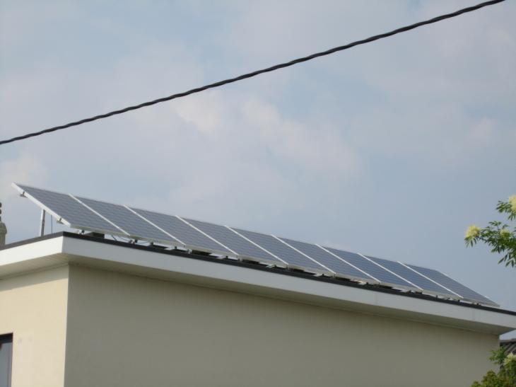 Zonnepanelen op plat dak Landen
