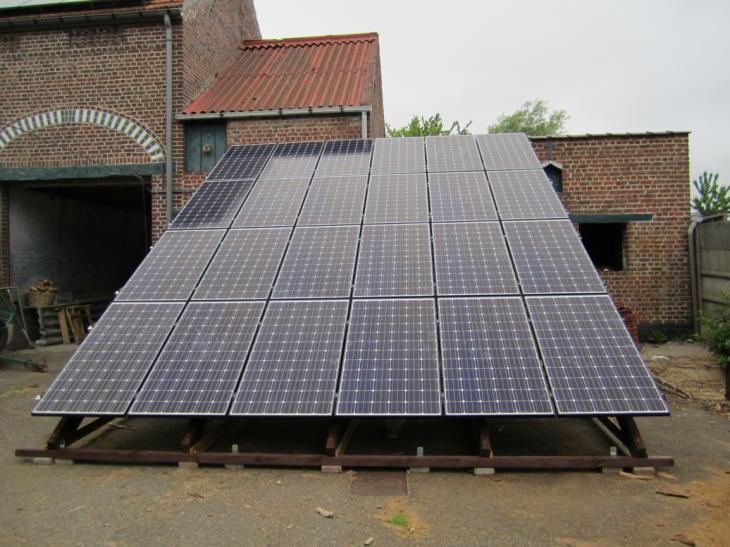 Zonnepanelen grondconstructie Hoegaarden