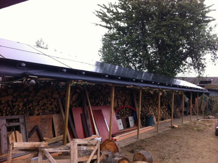 Zonnepanelen op plat dak Bierbeek