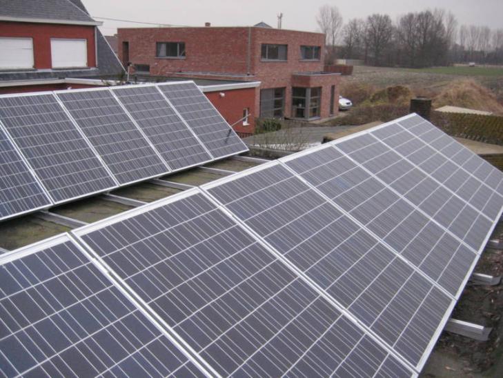 Zonnepanelen op plat dak Rijkevorsel