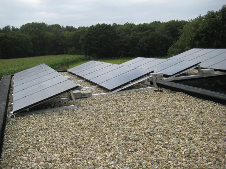 Zonnepanelen op plat dak Kasterlee