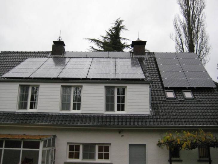 Zonnepanelen op pannen dak in Kasterlee