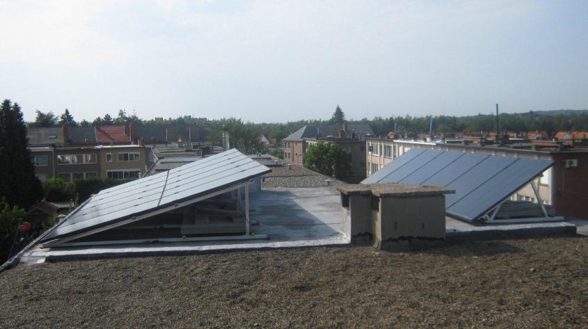Zonnepanelen op plat dak Kessel-Lo