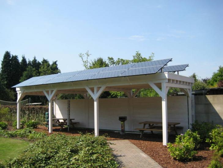 Zonnepanelen op plat dak Malle
