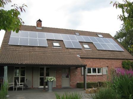 Zonnepanelen op pannen dak in Rijkevorsel