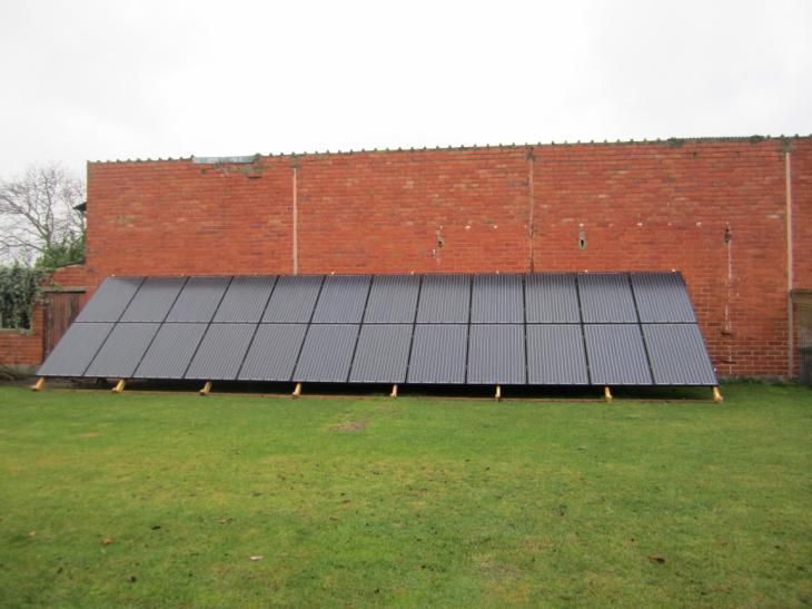 Zonnepanelen grondconstructie Kapelle-op-den-Bos