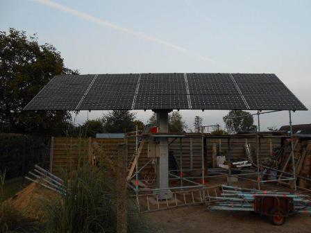 Zonnepanelen grondconstructie Begijnendijk
