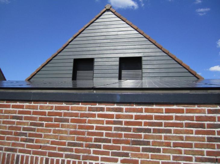 Zonnepanelen op plat dak Bertem