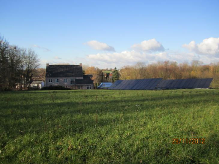 Zonnepanelen grondconstructie Beauvechain