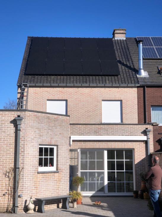 Zonnepanelen op pannen dak in Mechelen
