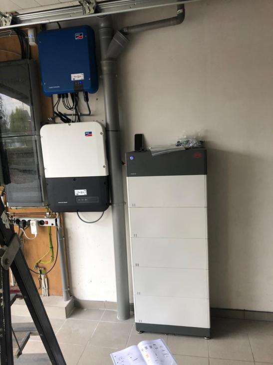 SMA + BYD batterij in Schriek